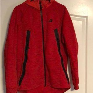 Nike Red zip up athletic hoodie